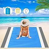 Mumu Sugar Sand Free Beach Blanket, 79''×83'' Extra Large Outdoor Picnic Blanket Waterproof Sand Proof Beach Mat for…