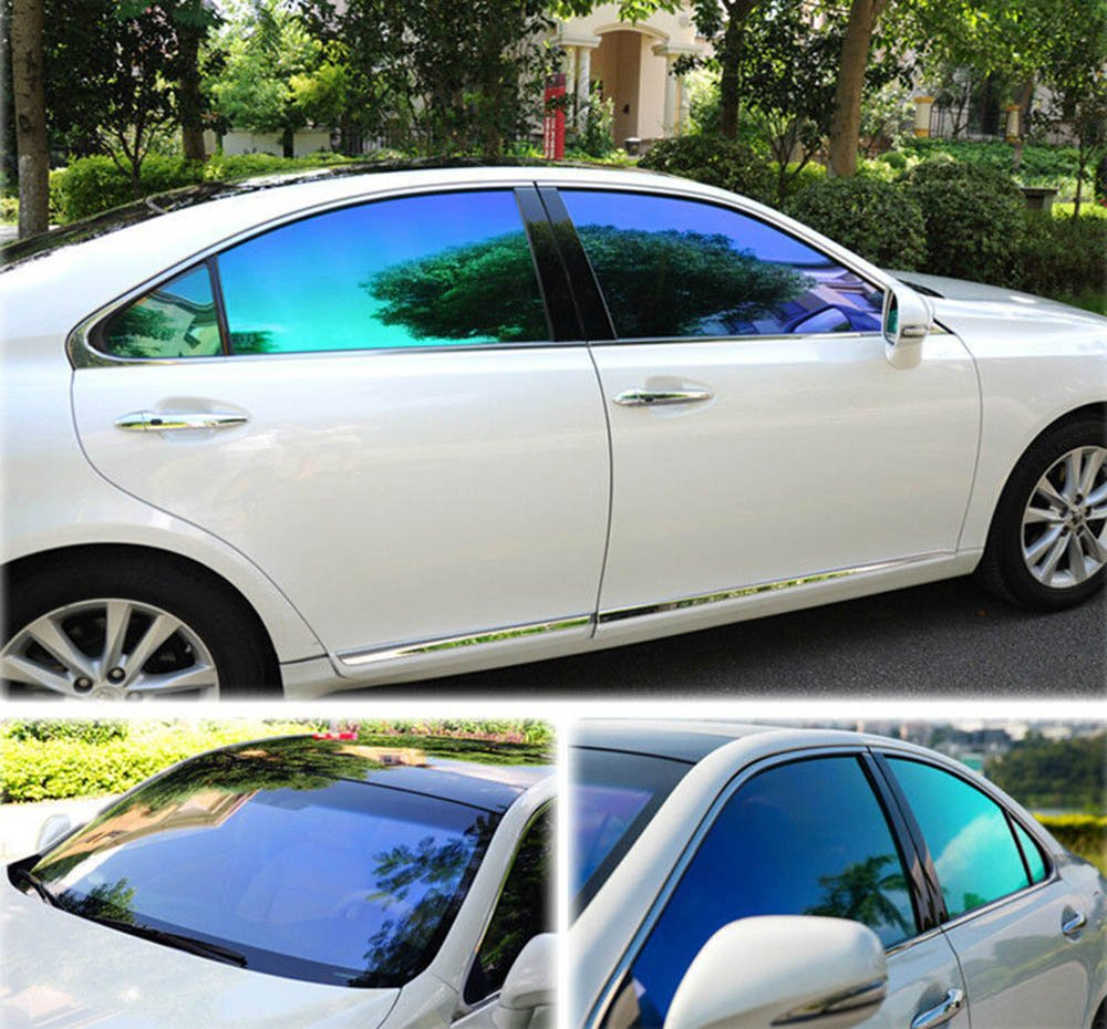 HOHO Chameleon Front Side Window Tint Solar Film VLT25% Car Foils Home Scratch Resistant Membrane 152cmx3000cm by HOHO