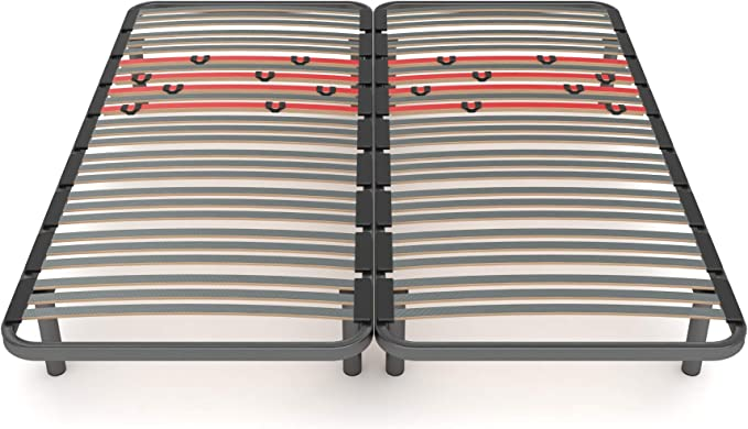 LA WEB DEL COLCHON Somier Multiláminas Regulador (*) 180 x 190 (2 ud. 90x190) x 5 cms. (8 Patas Incluidas)