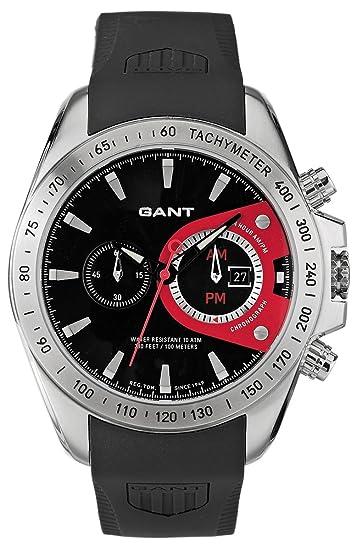 GANT Bedford - Reloj de Caballero de Cuarzo, Correa de Goma Color Negro: Amazon.es: Relojes
