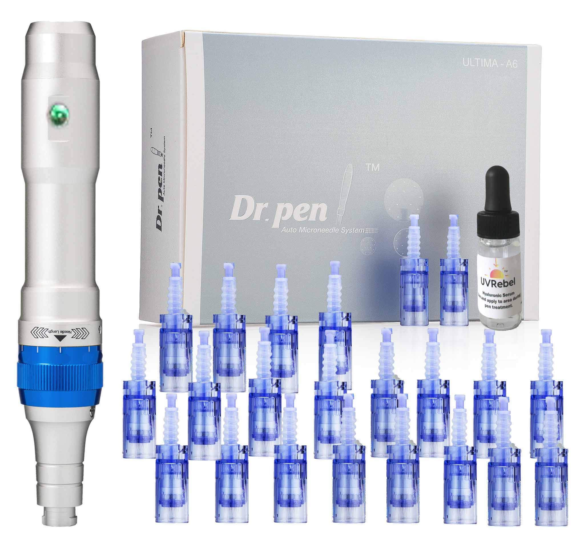 Dr. pen Ultima A6 Microneedling pen 24 Pcs Pin & Nano cartridges, 10 x 36-pin, 10 x Nano, 4 x 12-pin by Dr. Pen (Image #1)