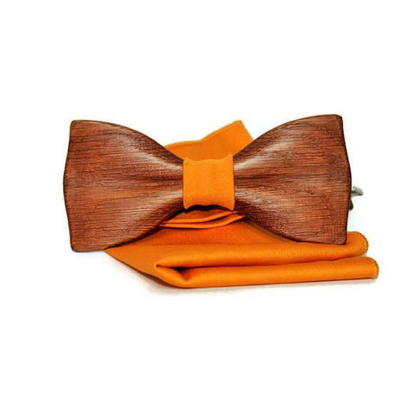 Formal Gala Bow Tie Wooden Unique Necktie Gift for Him Men Husband Boyfriend Brother Friend Father; Wedding