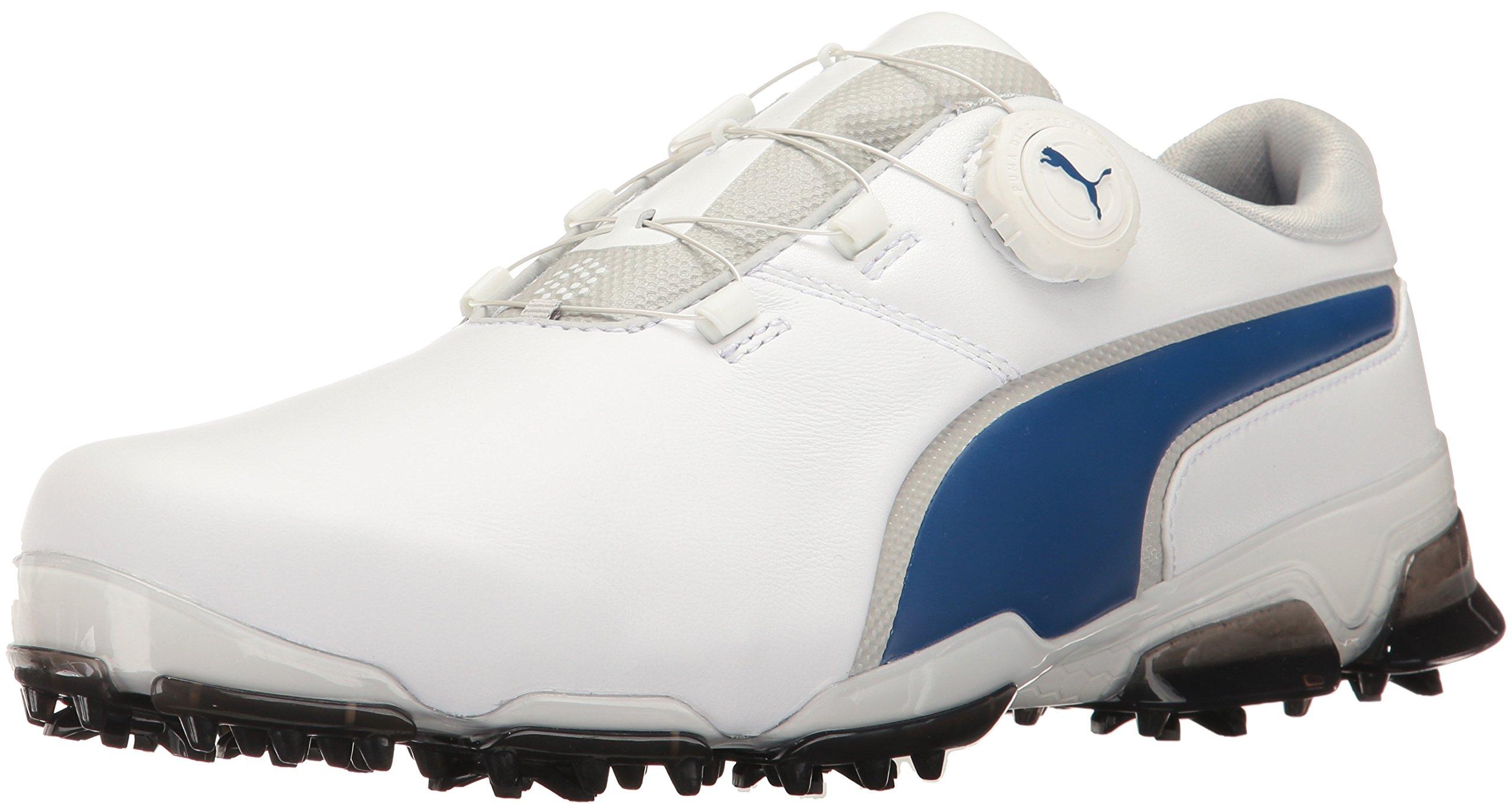 PUMA Men's Titantour Ignite Disc Golf Shoe, White-True Blue, 9 Medium US by PUMA