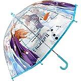 Paraguas Frozen 2 Ana y Elsa Paraguas Transparente Cúpula Infantil Paraguas Fibra de Vidrio Resistente Antiviento…
