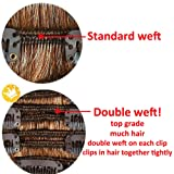 7Pcs 16 Clips 23-24 Inch Thick Curly Straight Full