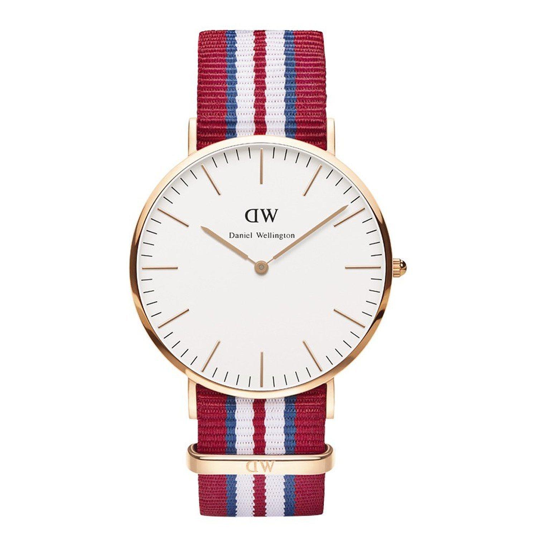 Reloj cuarzo Daniel Wellington Para Hombre Con Blanco Y rojo/blanco Nailon 0112DW: Amazon.es: Relojes
