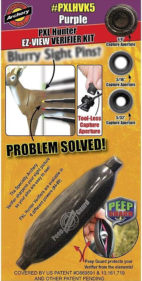 w// #8 Verifier /& Peep Guard White Verifier Kit Specialty Archery EZ-View PXL Hunter