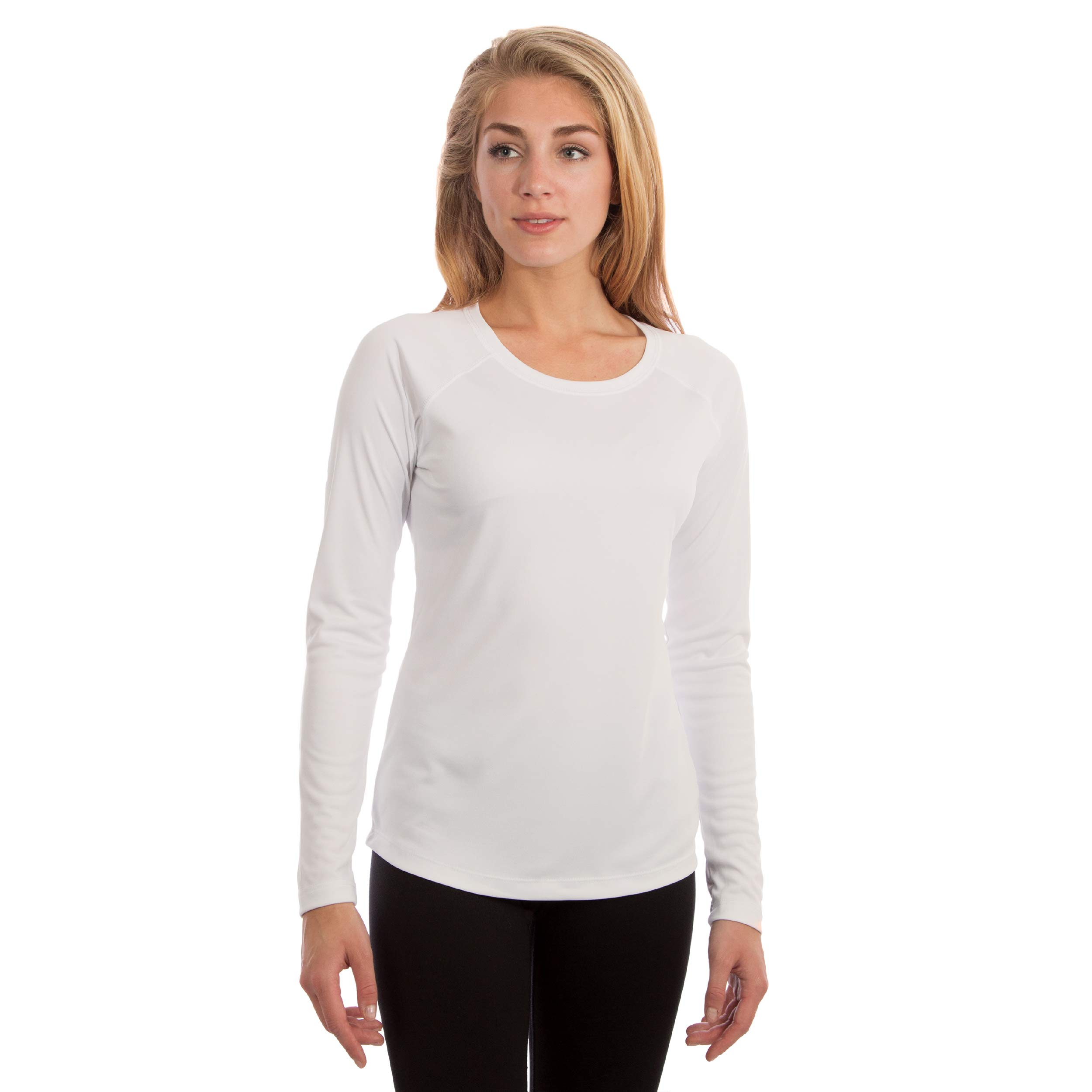 Vapor Apparel Women's UPF 50+ UV Sun Protection Long Sleeve Performance Slim Fit T-Shirt for Sports and Outdoor Lifestyle
