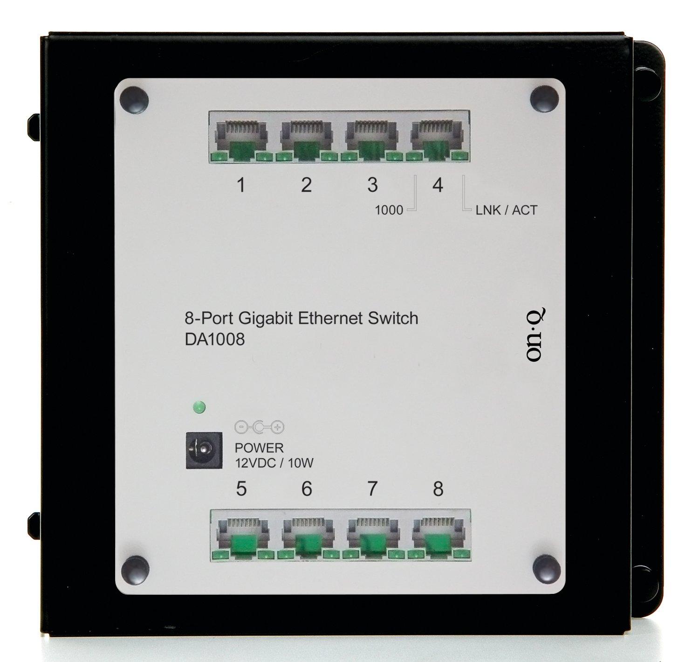 Legrand On Q Da1008 8 Port Gigabit Switch Home Structured Wiring Enclosures Improvement