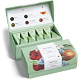 Tea Forte Fleur Tea Samplers with 20 Pyramid Tea Infuser Bags - Fruit, Herb and Flower Tea - Presentation Box Assorted Variety Tea Box