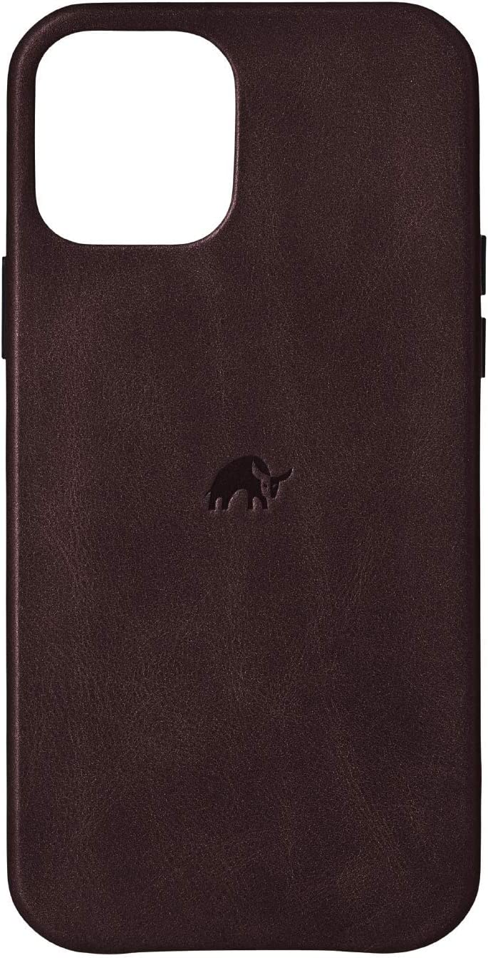 Bullstrap Premium Leather Phone Case Compatible with Apple iPhone 12/12 Pro, Bourbon Brown Leather