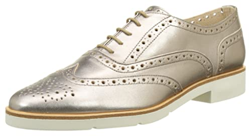 JB Martin Falba, Zapatos de Cordones Oxford para Mujer, Dorado (Chevre Brazil Stone Stone), 37 EU JB Martin