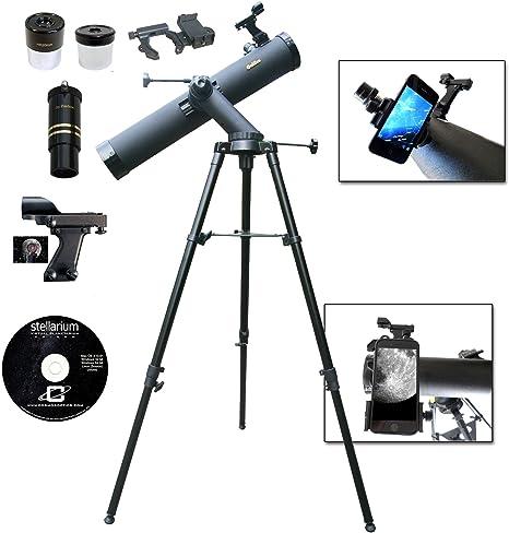 Galileo 800 mm x 80 mm Smartphone adaptador telescopio reflector de fotos...: Amazon.es: Electrónica