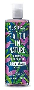 Faith In Nature Lavender & Geranium bodywash 400ml