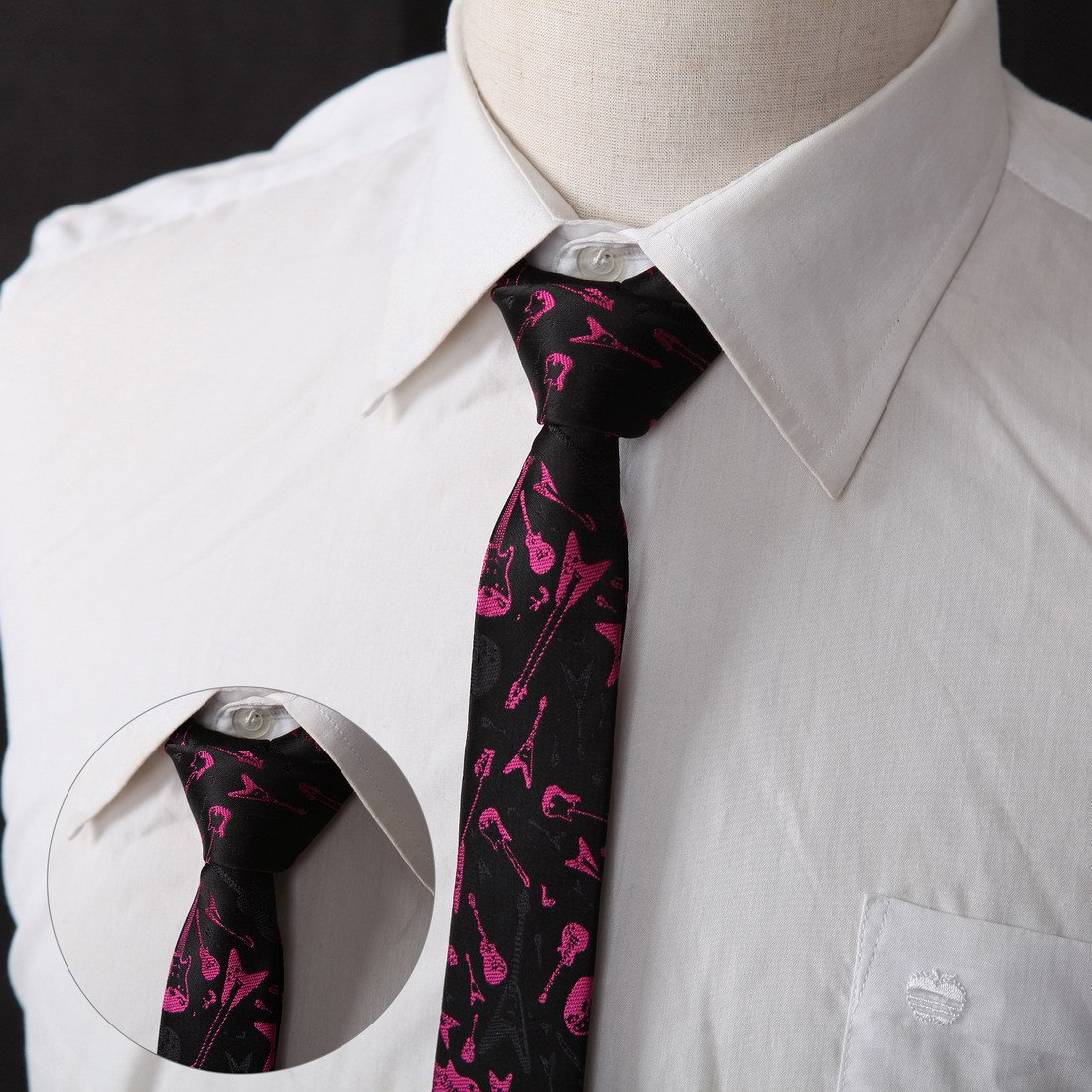 DANF0039 Series Colors 5cm-width Polyester Slim Ties Creative Fashion Skinny Ties - 5 Styles Available Inspire For Business By Dan Smith by Dan Smith (Image #6)