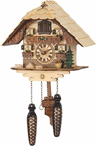 Trenkle Quartz Cuckoo Clock Black Forest House with Music TU 472 QM