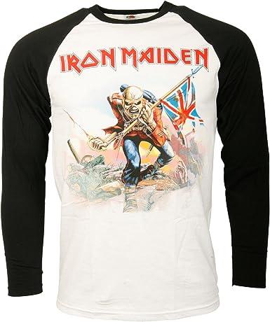 Iron Maiden - Camiseta de béisbol para hombre negro/blanco M ...