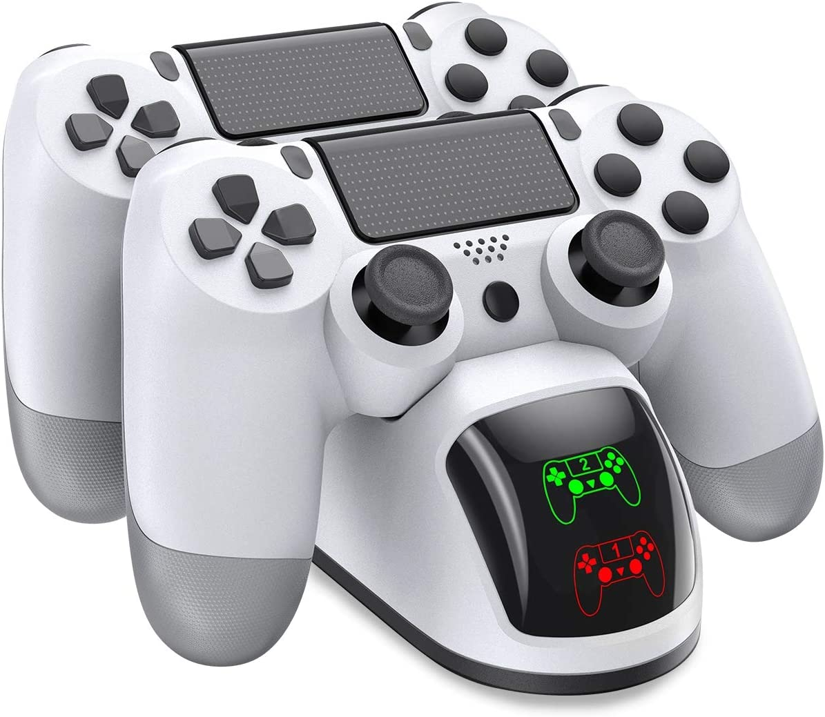 Cargador Para Controles De Ps4 Beboncool, Color Blanco