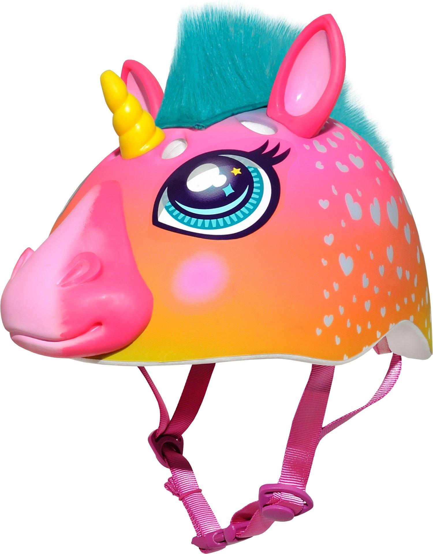 Raskullz Super Rainbow Corn Hair Helmet, Dark Pink