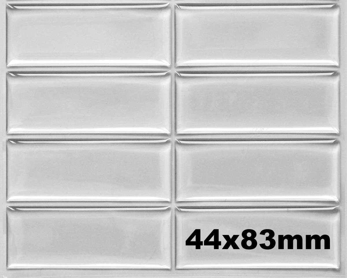 50 Pcs. 44x83mm Clear Rectangle Epoxy Stickers - FREE SHIPPING