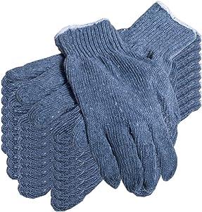 Pack of 24 Gray Knit Gloves for Men 10