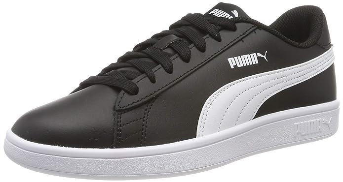 Puma Smash V2 L Sneakers Erwachsene Damen Herren Unisex schwarz mit weißen Streifen