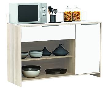 Habeig Akazie Weiss Küchenschrank 228 Schrank Küchenregal