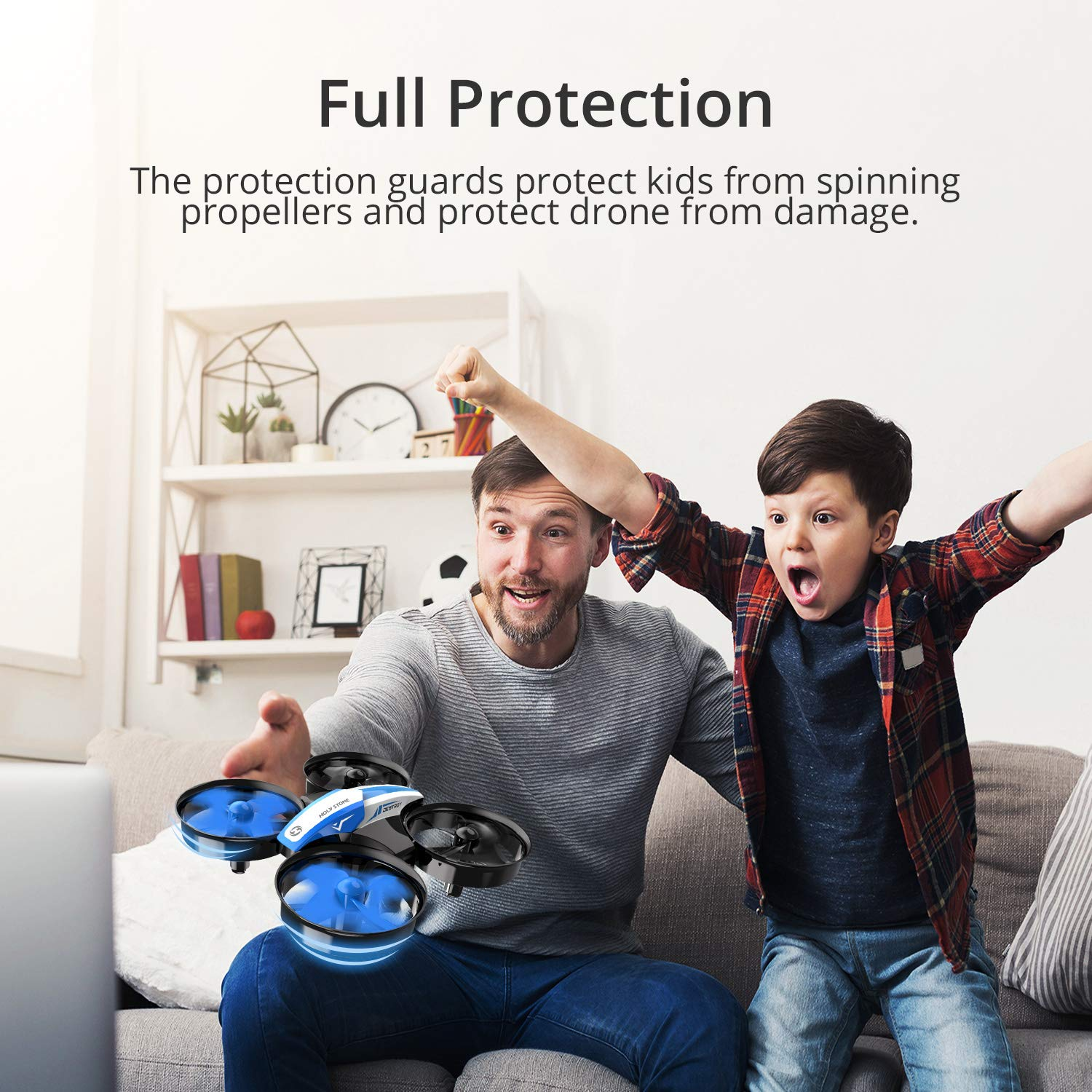 Holy Stone Mini Drone for Kids and Beginners RC Nano Quadcopter Indoor Small Helicopter Plane with Auto Hovering, 3D Flip, Headless Mode and 3 Batteries, Great Gift Toy for Boys and Girls, Blue by Holy Stone (Image #7)