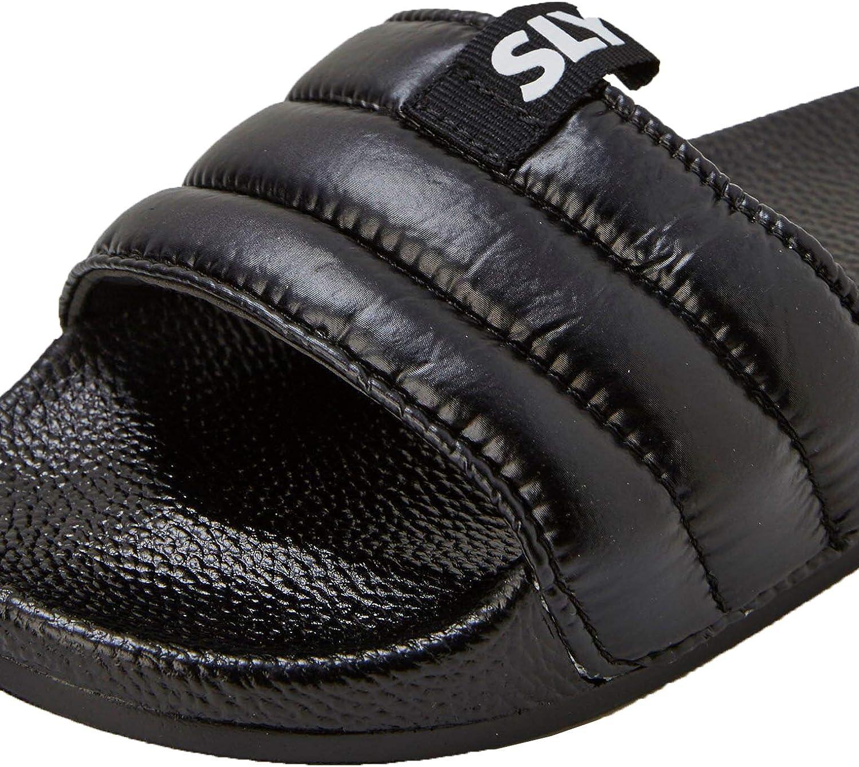 Slydes Mode Mens Black Padded Sliders