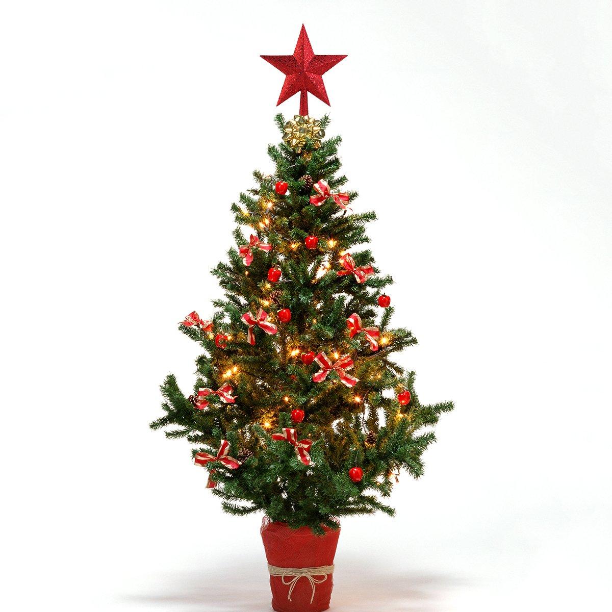 Amazon.com: NICEXMAS Christmas Tree Toppers Star Treasures Glittered ...