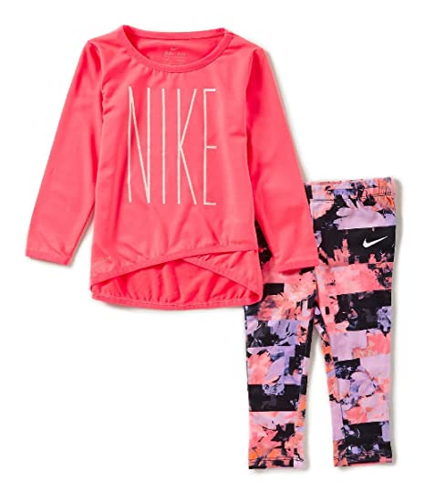 6eacd61a45 Amazon.com: Nike Dry Sports Essential Crossover Infant/Girls' Tunic/Legging  Set 12 Months: Sports & Outdoors