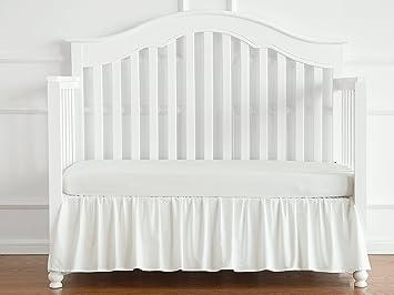 TILLYOU Crib Skirt Dust Ruffle Baby Bedding, 100% Natural Cotton, Nursery  Crib Bedding