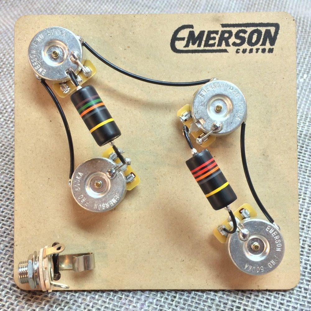 Emerson Custom Prs 4 Knob Prewired Kit Musical Instruments Way Switch Wiring Diagram On Guitar 3