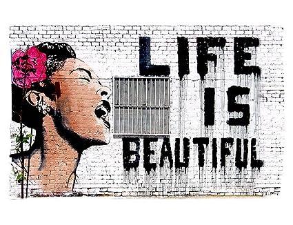 Amazoncom Alonline Art Life Is Beautiful Banksy Vinyl Sticker