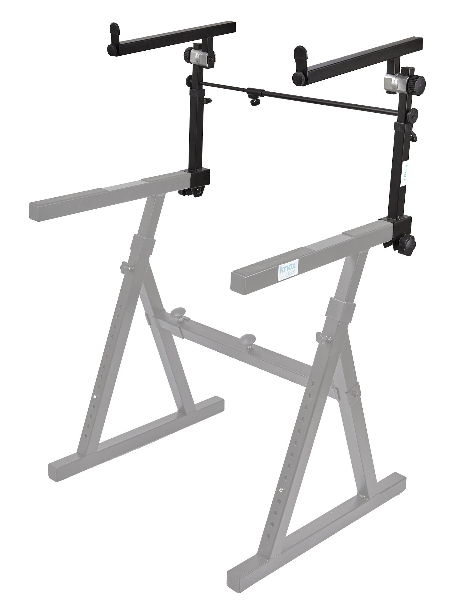 Knox Second Tier for Z Keyboard Stand – Detachable 2nd Level for Knox Z Style Piano Stand - Adjustable Height and Width(Stand Sold Separately)