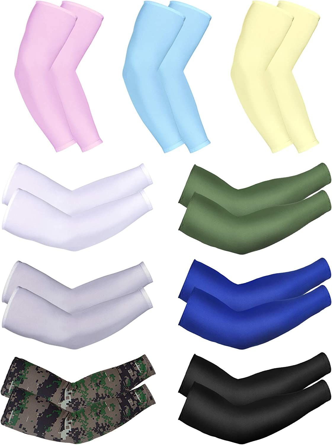 Arm Sleeves Lovely-Blue-Rose Mens Sun UV Protection Sleeves Arm Warmers Cool Long Set Covers