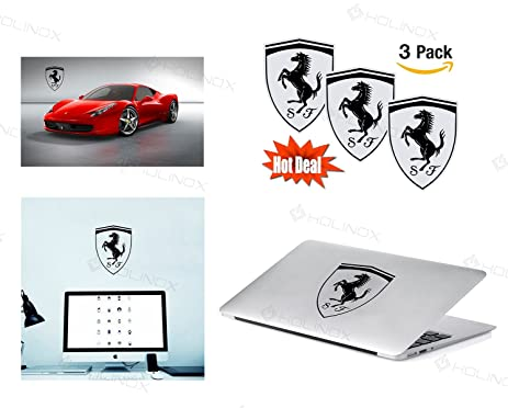 Amazon Com Ferrari Logo Stickers Decal Set Of 3 Decals High
