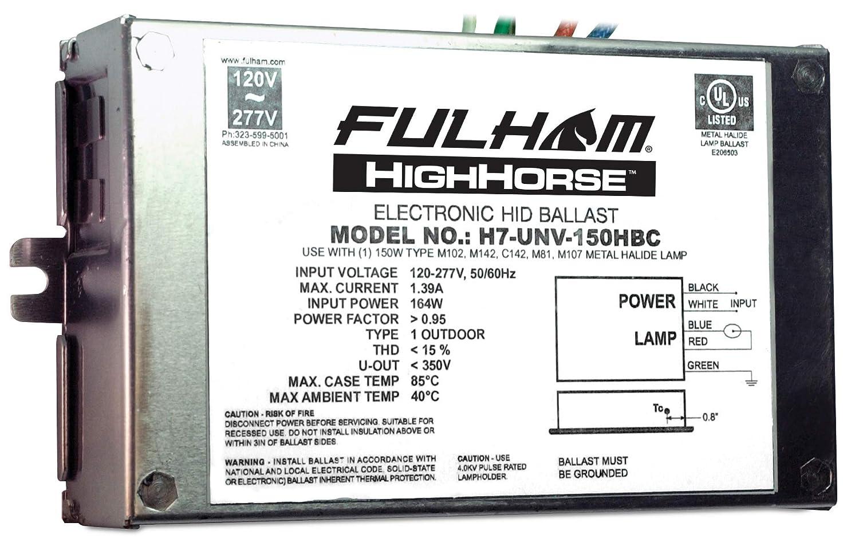 Fulham Electronic HID Ballast, H7-UNV-150HBC