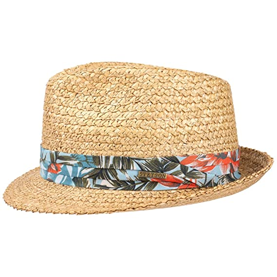f7446a446a1f5f Stetson Flower Vintage Trilby Straw Hat Sun Beach: Amazon.co.uk: Clothing