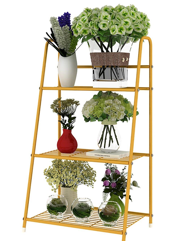 LB huajia ZHANWEI Eisen Blume Rack Sukkulente Pflanzen Blume Rack Balkon Blume Topf Blume Rack Multilayer Leiter Blume Rack (Farbe : A)