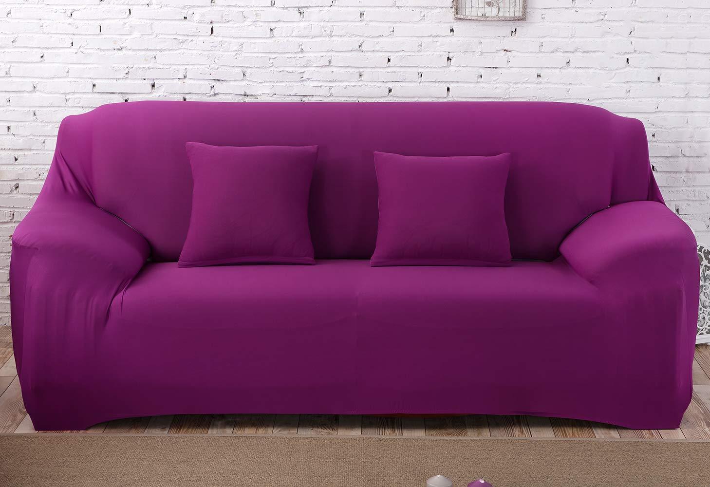 MeOkey Funda para Sofá Cubierta de Sofá Poliéster Elástico para Sofa de 3 Plaza (190-230 CM)
