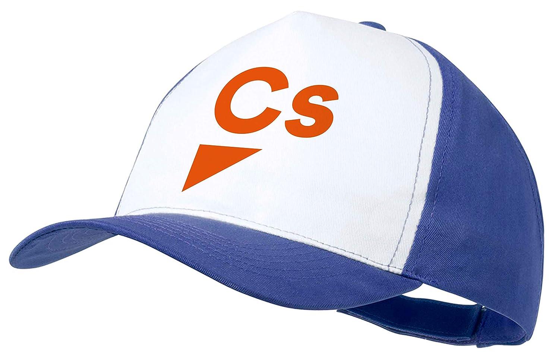 MERCHANDMANIA Gorra Logo Partido CIUDADANOS Color Cap