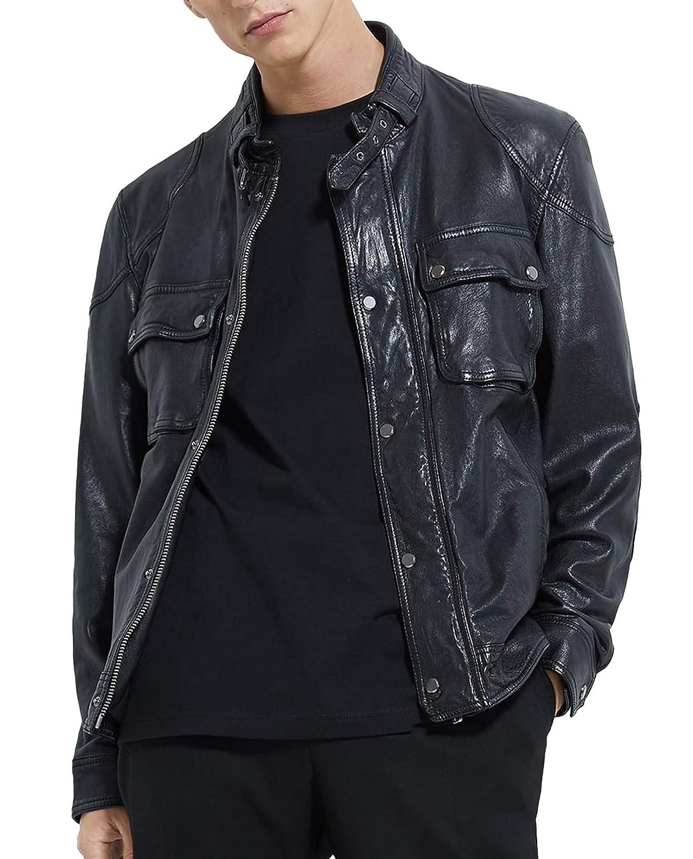 Amazon.com: Zara 0706/356/800 - Chaqueta de piel con ...