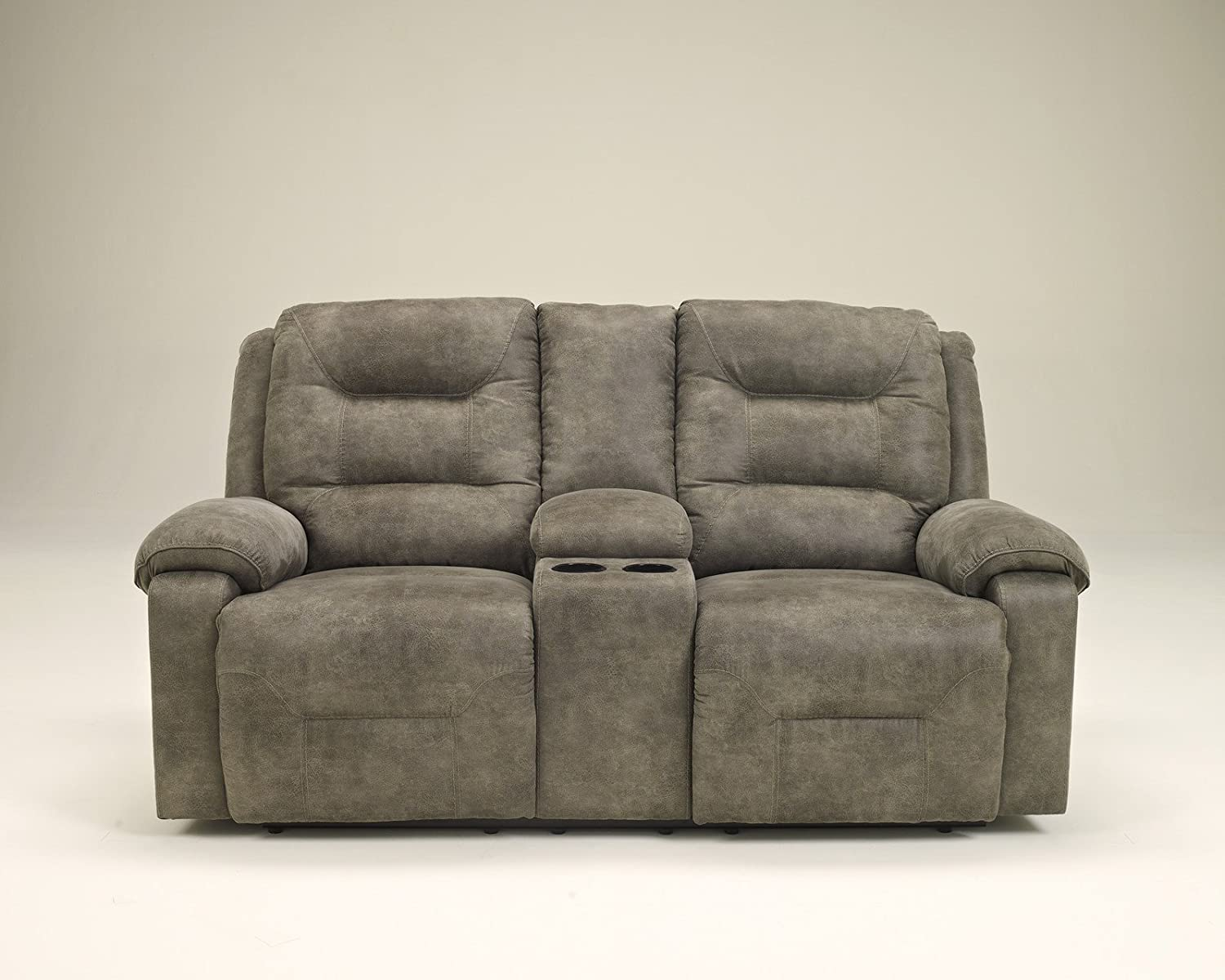 in mart reclining furniture double loveseat console detailspage mccaskill gray with nebraska