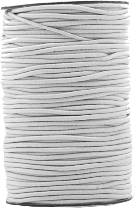 2mm Beading Silver Round Elastic Stretchy Cord 5 Yards