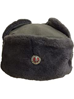 Authentic Russian Army Ushanka Winter Hat Soviet Soldier  Amazon.co ... 20387e23bab