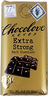 product image for Chocolove Chocolate Bar, 77% Extra Strong Dark, 3.2 Ounce (Pack of 12)