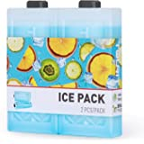 TOURIT Reusable Ice Packs for Coolers Long Lasting Freezer Packs Space Saving Ice Blocks for Lunch Bags/Boxes, Cooler…