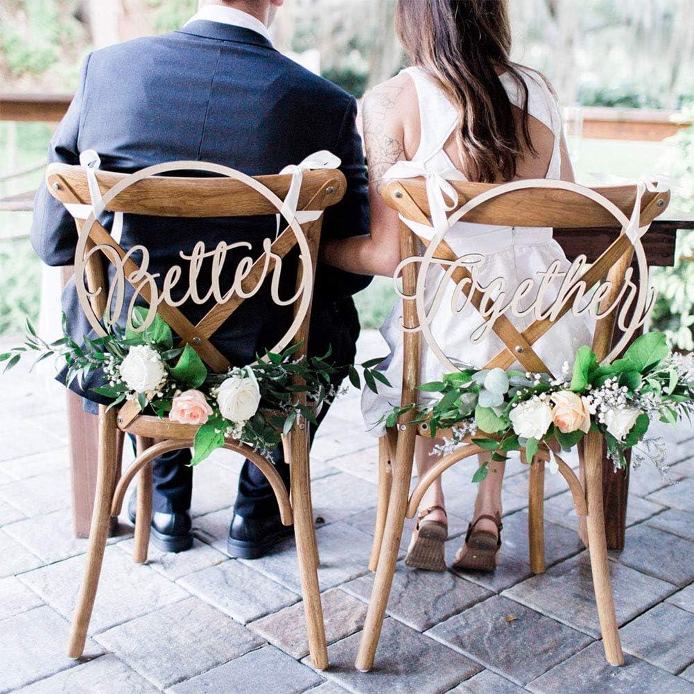 Better together Schriftzug für Hochzeit