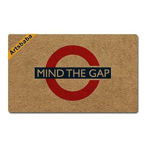 Amazon Com Artsbaba Doormat Mind The Gap Door Mat Rubber Non Slip